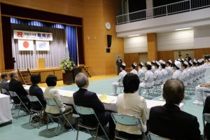 実習3病院や関係各位のご臨席とご祝辞をいただきました。